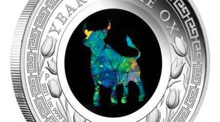 Perth Mint Releases Year of the Ox Commemorative Coin Inlaid With Australian Opal